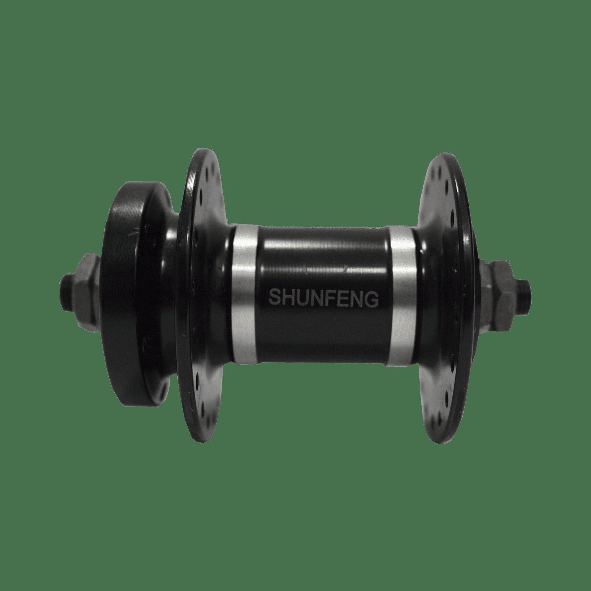 00897 Cubo Dianteiro de alumínio Disk Brake 36F SHUNFENG preto