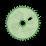 05264 Engrenagem ZX 042 40D MITSU verde